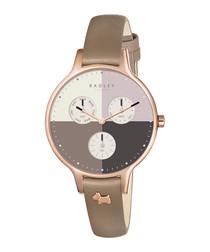 Abbey rose gold-tone steel watch
