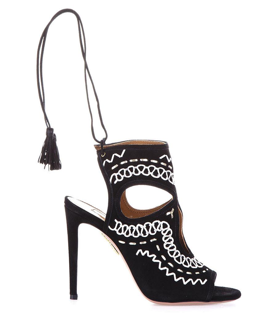 Sexy Thing black leather sandal heels Sale - aquazzura