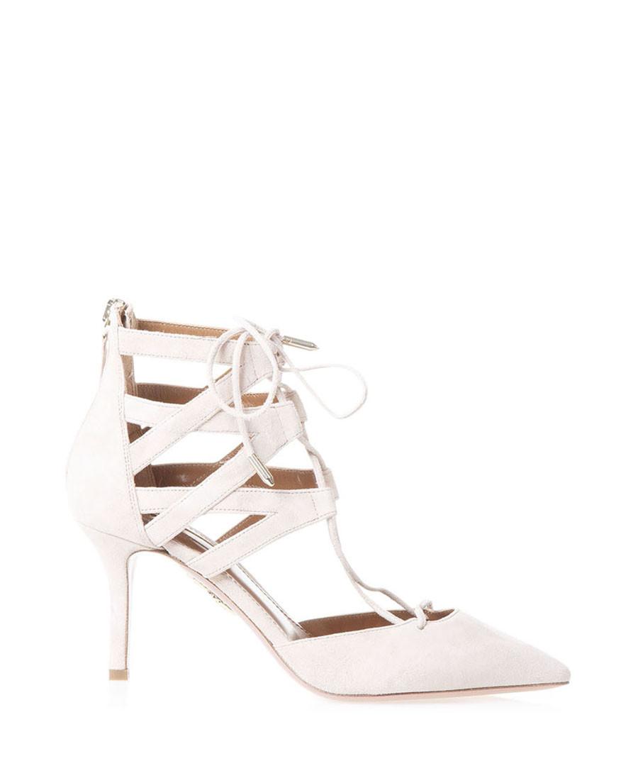 Belgravia nude suede strappy heels Sale - aquazzura
