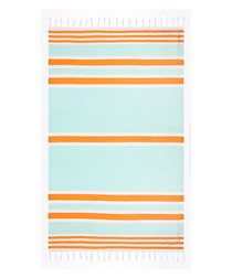 Samsara mint pure cotton beach towel