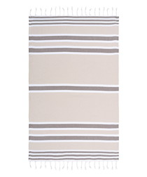 Samsara beige pure cotton beach towel