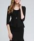 Black ruffle detail blazer Sale - ssxr Sale
