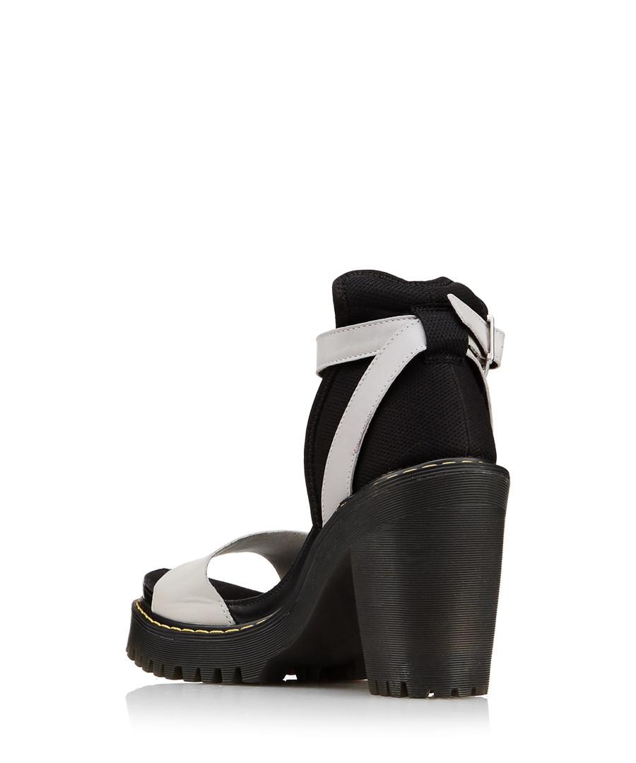 spotykać się nowy autentyczny tania wyprzedaż Discount Medea grey leather sandals | SECRETSALES
