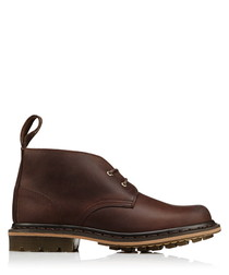 Deverell brown leather desert boots
