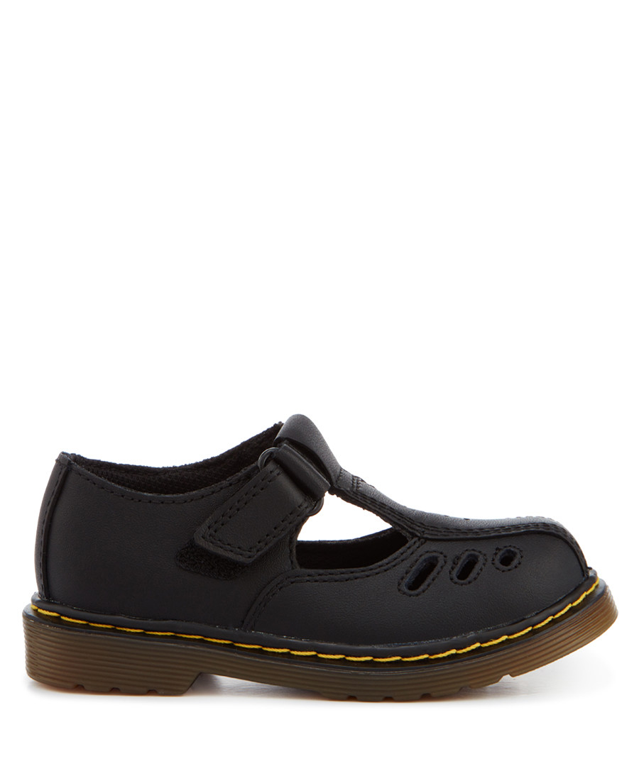 Kid's Heckle black leather shoes Sale - Dr. Martens