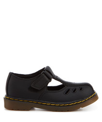 Kid's Heckle black leather shoes