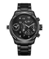 G3 black stainless steel watch