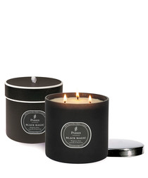 Image of Begamot & Rose black magic candle
