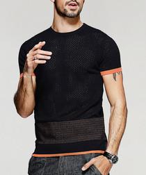 Black & orange T-shirt