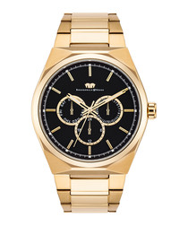 Cooledge gold-tone stainless steel watch