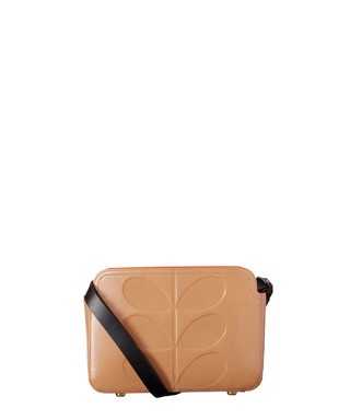 2d7a3e4f4e351 Embossed Stem fawn leather cross body Sale - Orla Kiely Sale