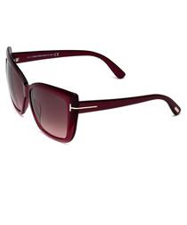 Irina burgundy box sunglasses
