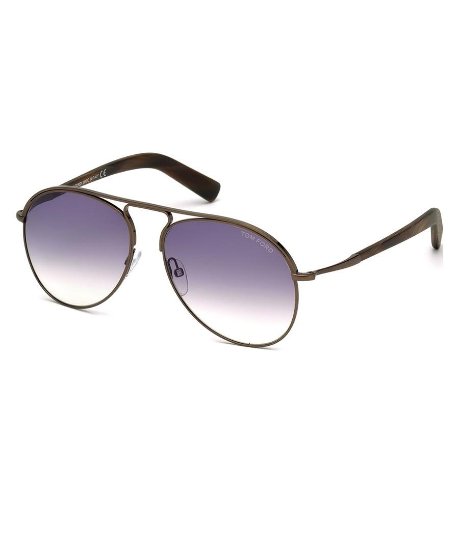 Cody brown & purple pilot sunglasses Sale - tom ford