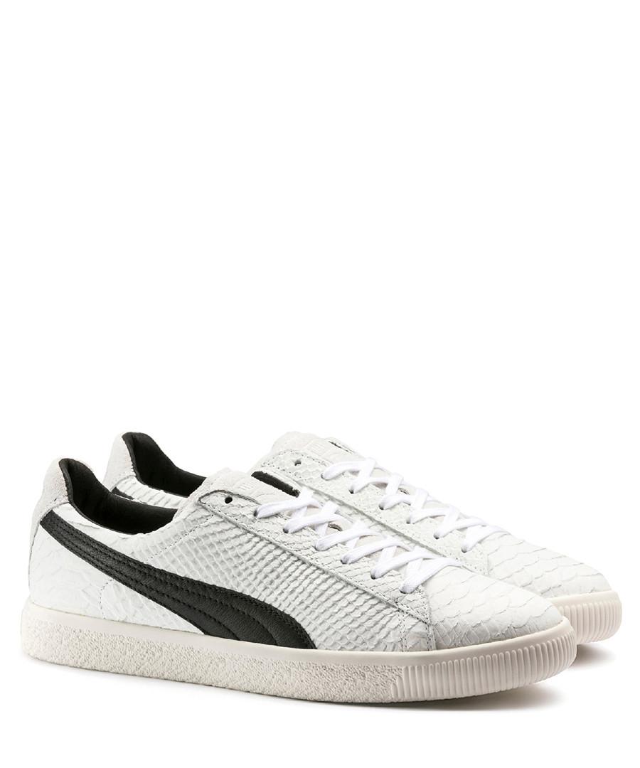 meet 7e99c b3e70 Discount Clyde MII white leather sneakers | SECRETSALES