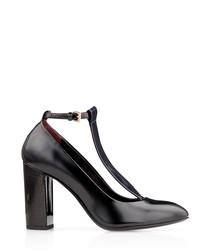 Radley black leather strap heels