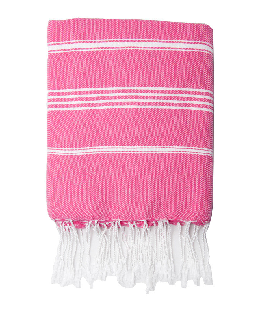 Mykonos fuchsia pure cotton fouta towel Sale - FEBRONIE