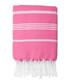 Mykonos fuchsia pure cotton fouta towel Sale - FEBRONIE Sale