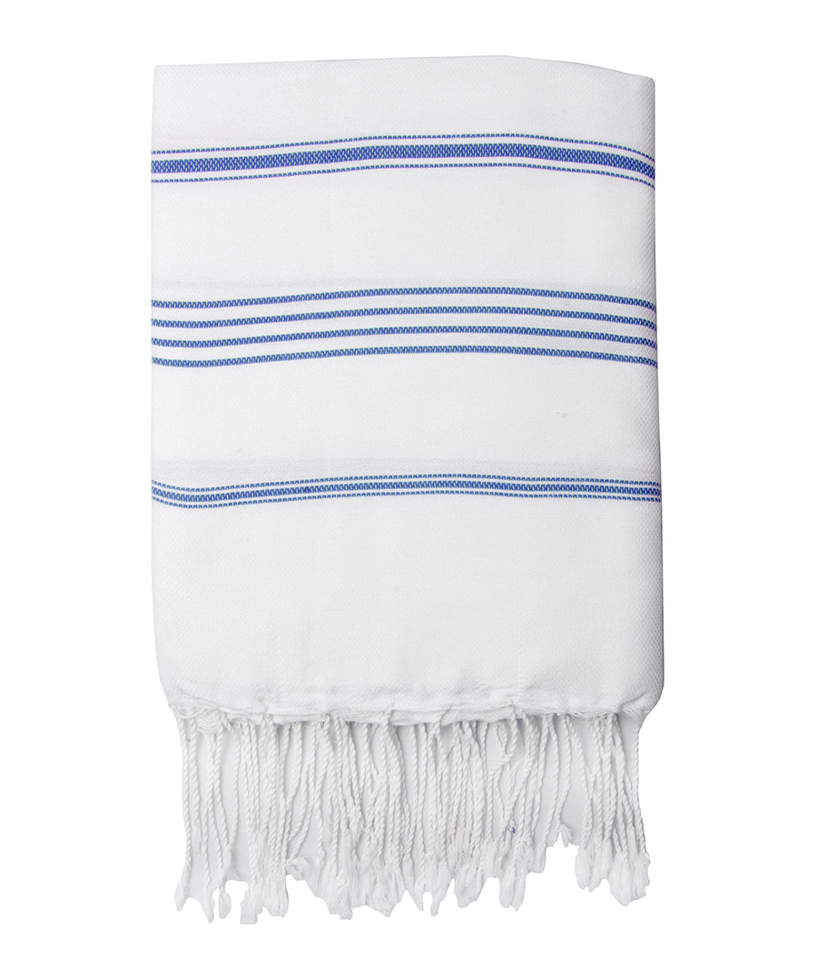 Mykonos white pure cotton fouta towel Sale - FEBRONIE