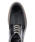 Black leather wingtip stacked brogues Sale - Baqietto Sale