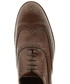Coffee leather wingtip stacked brogues Sale - Baqietto Sale