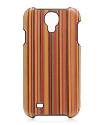 Multi-coloured striped Samsung 4 case
