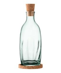 Mia green glass corked vinegar bottle
