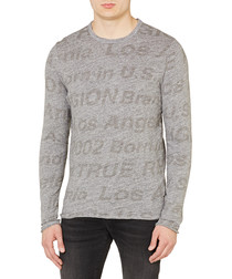 All Over grey pure cotton Tshirt