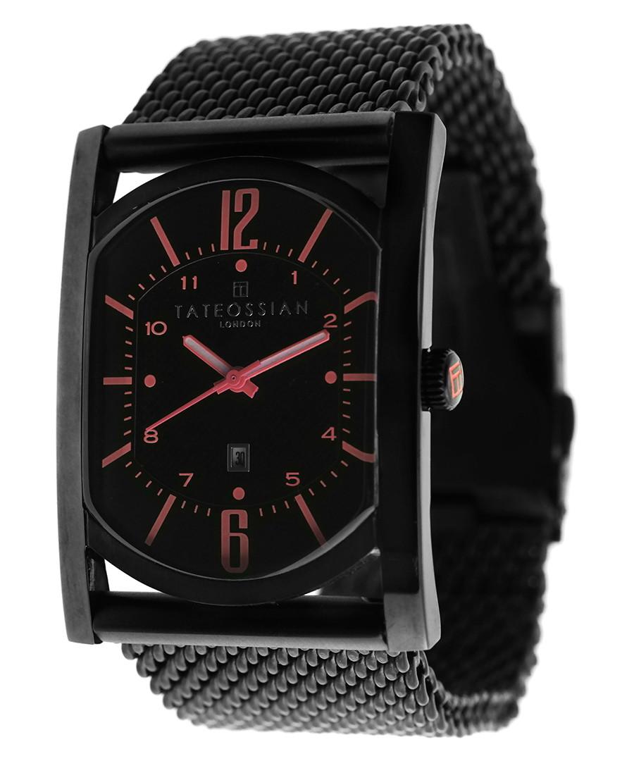 Black stainless steel mesh strap watch Sale - Tateossian London