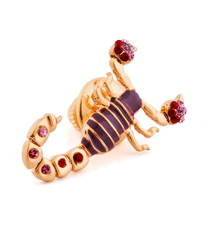 Purple crystal scorpion tie pin
