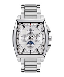 Carrée silver-tone square watch
