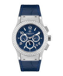 Noblesse Lady blue leather watch