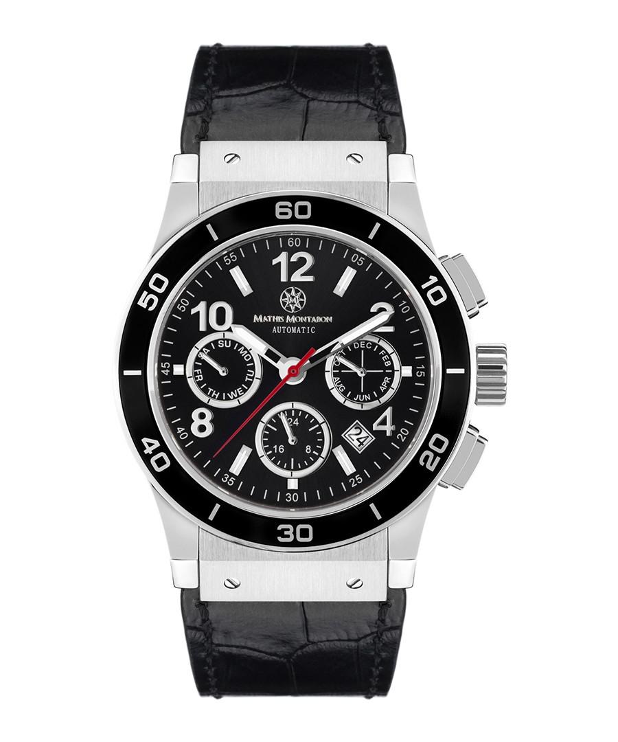 Noblesse black moc-croc leather watch Sale - mathis montabon
