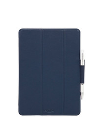 Classic blue leather iPad Pro folio