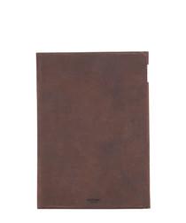Brown leather iPad Air folio case