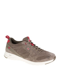 Mythos grey leather sneakers