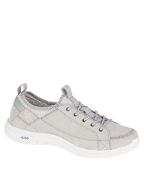 Women's Swain grey leather sneakers