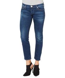 Liv dark blue cotton blend crop jeans
