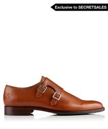 Offida tan leather monk strap shoes
