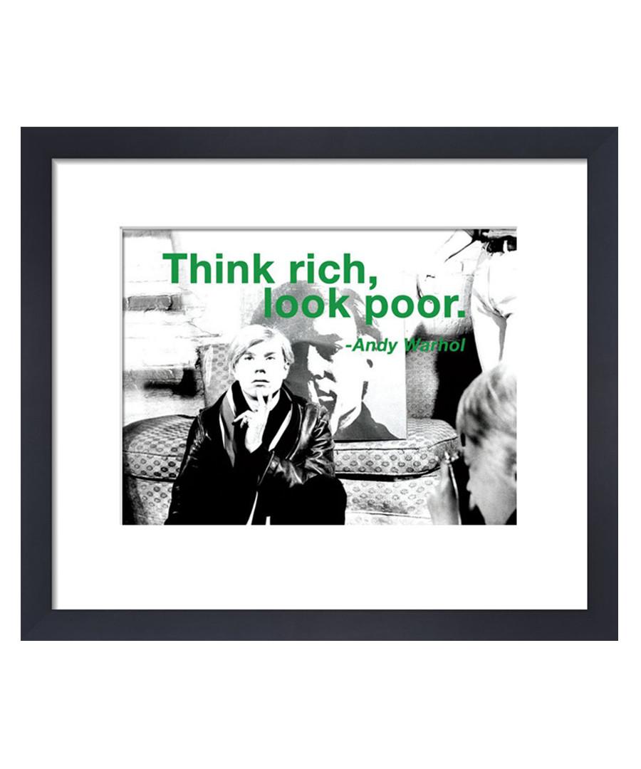 Think Rich framed print Sale - Andy Warhol