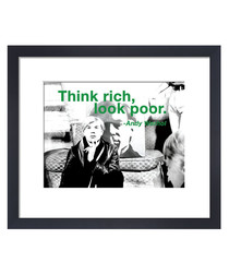 Think Rich framed print 36 x 28 cm