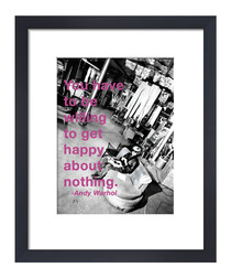 Get Happy framed print