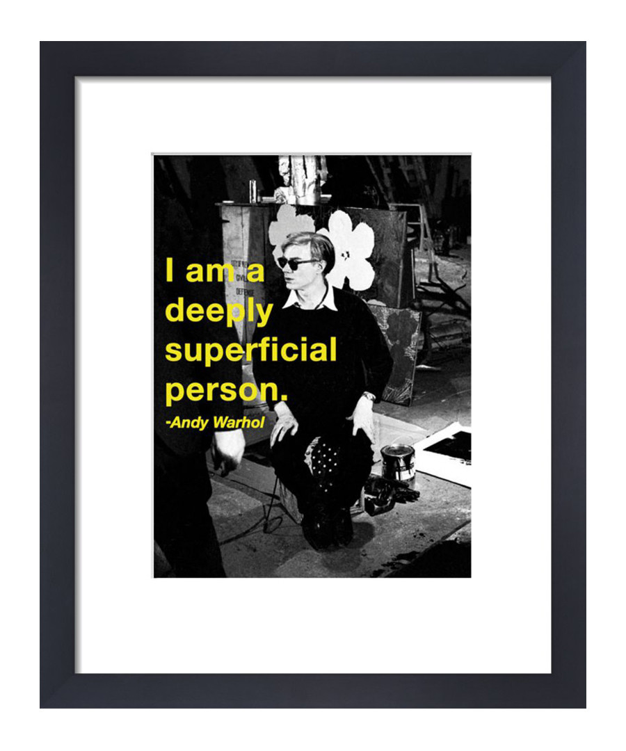 Superficial framed print 36 x 28 cm Sale - andy warhol