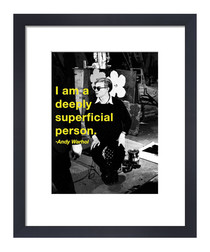 Superficial framed print