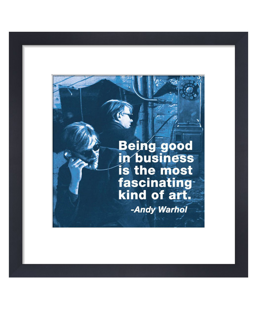Business framed print 36 x 28 cm Sale - andy warhol