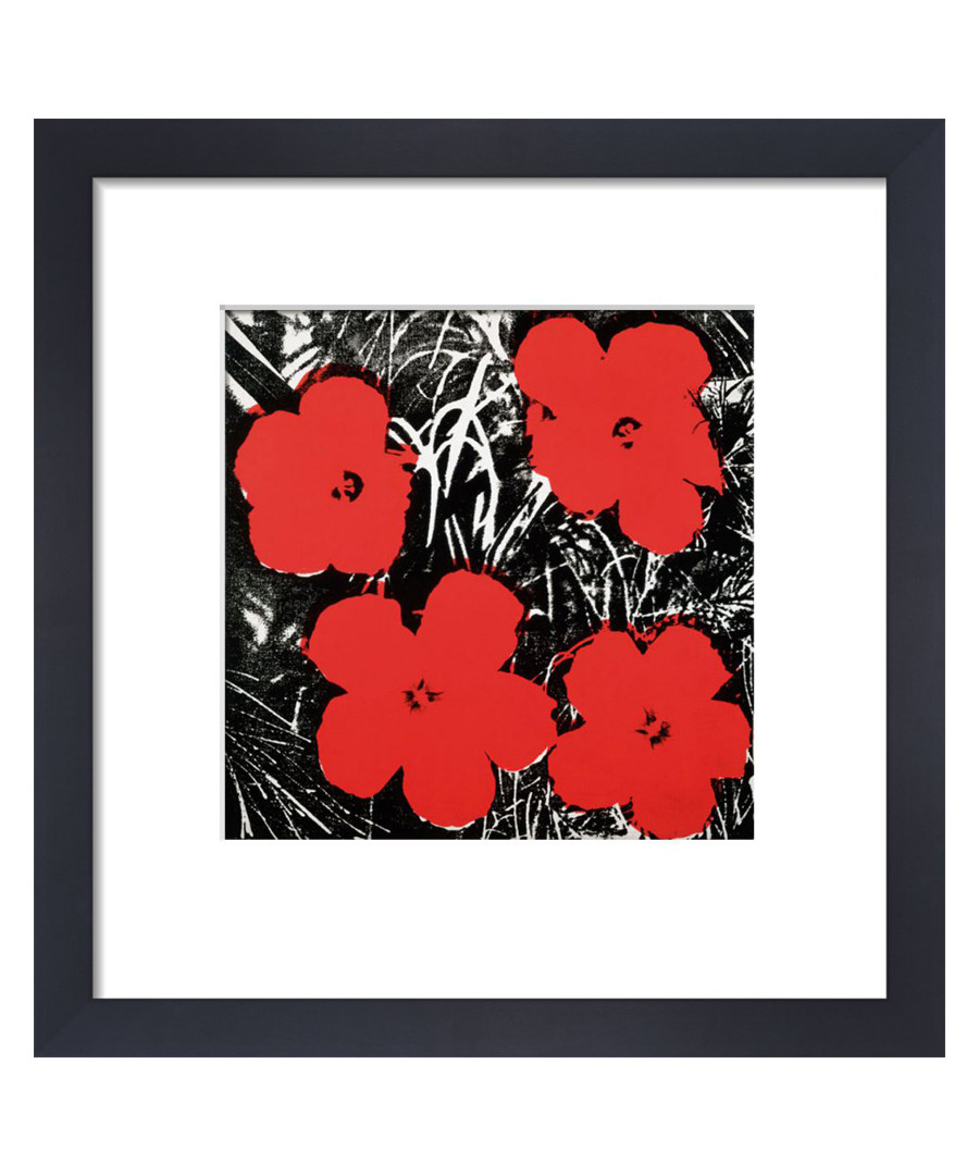 Red Flowers framed print Sale - Andy Warhol