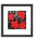 Red Flowers framed print Sale - Andy Warhol Sale