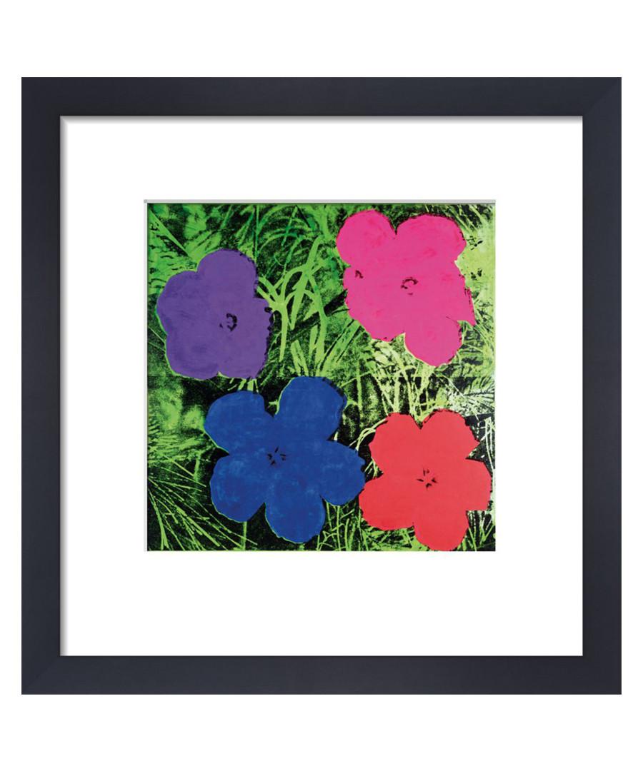 Blue flowers framed print Sale - Andy Warhol