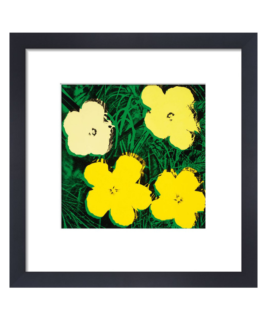Yellow flowers framed print  Sale - Andy Warhol