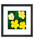Yellow flowers framed print  Sale - Andy Warhol Sale