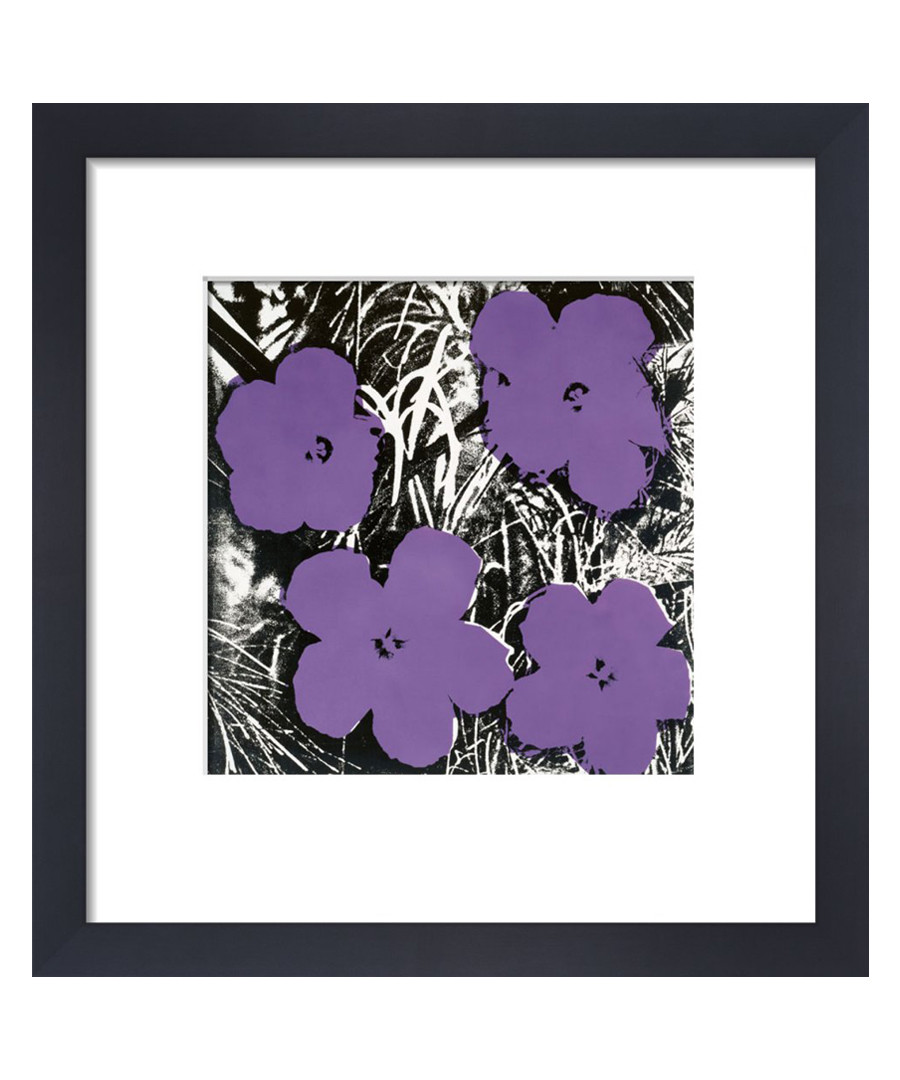 Purple flowers framed print  Sale - Andy Warhol